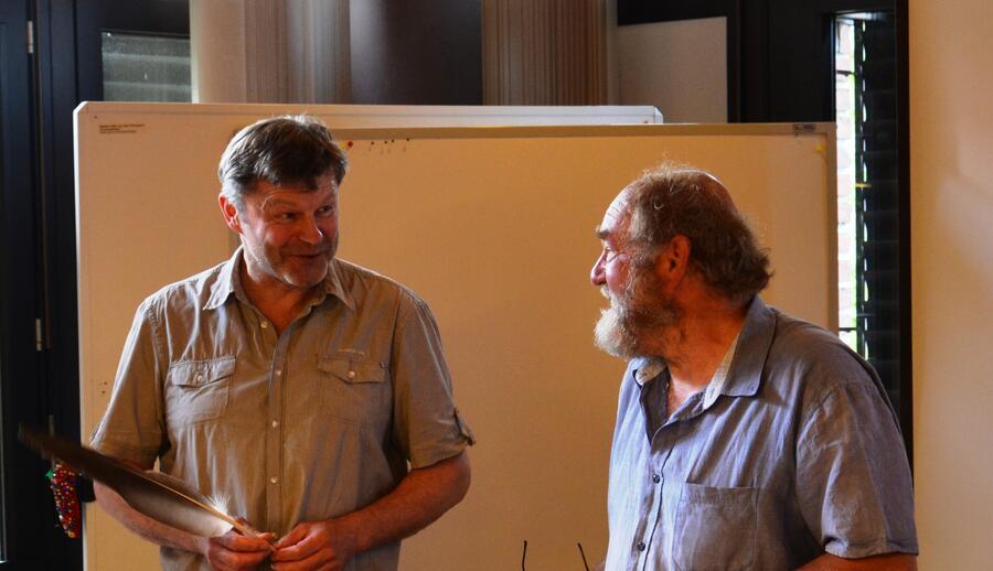 Herr Kropla und Herr Neumann (v. li)